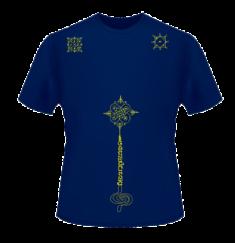 Интегральная футболка-татуировка: перед