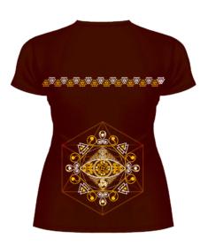 Футболка Kahu Arian T Shirt женский сулуэт, вид сзади