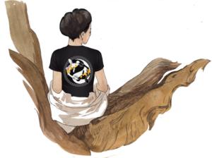 Интегральная футболка «Искусство чистой девы», Брачные покои: спина
