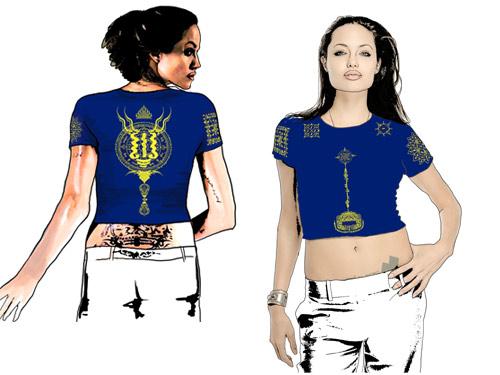Сак Янт — защитная футболка-татуировка. Женская